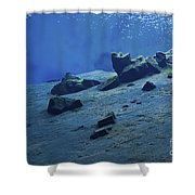 The Clear Water Of The Lagoon At Silfra Shower Curtain