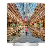 The Cleveland Arcade IIi Shower Curtain by Clarence Holmes