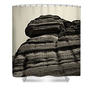 The Cliff Bw Shower Curtain