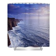 The Cliffs Of Moher, County Clare Shower Curtain