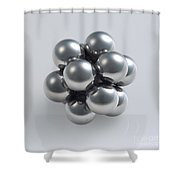 The Closest Possible Packing Of Spheres Shower Curtain