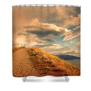 The Cloud Path Shower Curtain