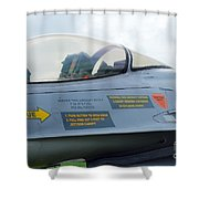 The Cockpit Of An F-16 Fighting Falcon Shower Curtain