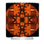 The Color Orange Mandala Abstract Shower Curtain
