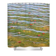 The Colors Of Lily Pads Shower Curtain
