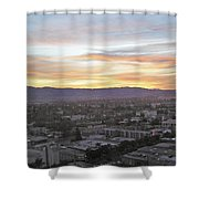 The Colors Of The Sky Over San Jose At Sunset Shower Curtain by Ashish Agarwal