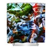 The Coloured Eddies Shower Curtain