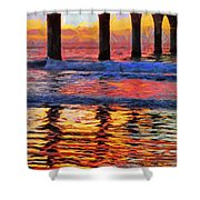 The Colours Of Dawn  Shower Curtain