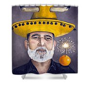 The Competitive Sombrero Couple 2 Shower Curtain