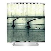 The Confederation Bridge Pei Shower Curtain