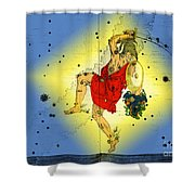 The Constellation Perseus Shower Curtain