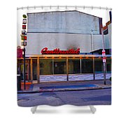 The Continental Diner Shower Curtain by Bill Cannon