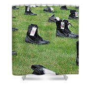 The Cost Of War Shower Curtain by Chalet Roome-Rigdon