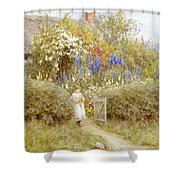 The Cottage Gate Shower Curtain