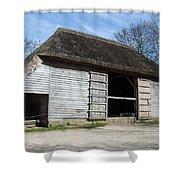 The Cowfold Barn Shower Curtain