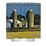 The Cows Have Come Home Shower Curtain by DigiArt Diaries by Vicky B Fuller