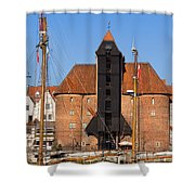 The Crane In Gdansk Shower Curtain