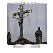 The Crucifix And Calvary - Prague Shower Curtain