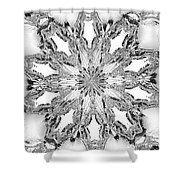 The Crystal Snow Flake Shower Curtain