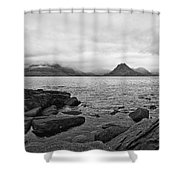 The Cuillin's In The Mist Shower Curtain