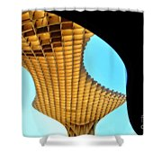 The Curves Of The Metropol Parasol Shower Curtain