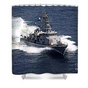 The Cyclone-class Coastal Patrol Ship Shower Curtain
