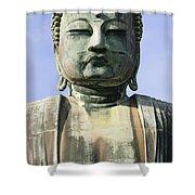 The Daibutsu Or Great Buddha, Close Up Shower Curtain
