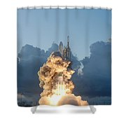 The Dawn Spacecraft Shower Curtain