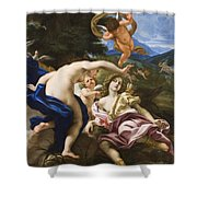 The Death Of Adonis Shower Curtain by Il Baciccio
