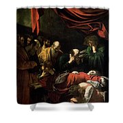 The Death Of The Virgin Shower Curtain by Caravaggio