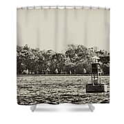 The Delaware River At Bristol Shower Curtain