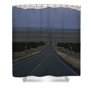 The Desolate Highway 50 Shower Curtain