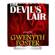 The Devil's Lair Book Cover Shower Curtain