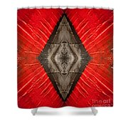 The Diamond Of Courage Shower Curtain