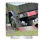 The Dingo 2 Mppv Of The Belgian Army Shower Curtain