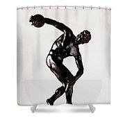The Discobolus Shower Curtain