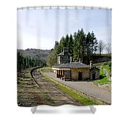 The Disused Alton Towers Railway Station Shower Curtain