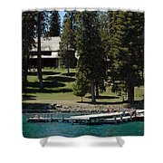 The Dock At Sugar Pine Point State Park Shower Curtain