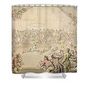 The Dog Fight Shower Curtain