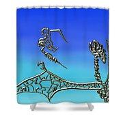 The Dragon Slayer Shower Curtain