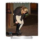 The Dressage Boots Shower Curtain