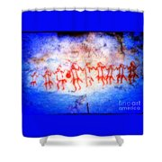 The Drum Dance Shower Curtain