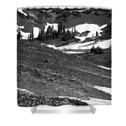 The East Slopes Of Mount Rainier II Shower Curtain