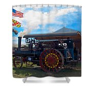 The Eclipse Getting Ready Shower Curtain