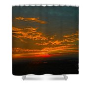 The Electric Sky  Shower Curtain