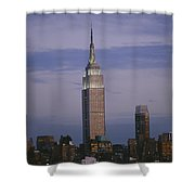 The Empire State Building Towers Shower Curtain