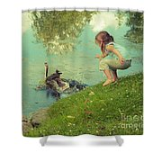 The End Of The Story Shower Curtain