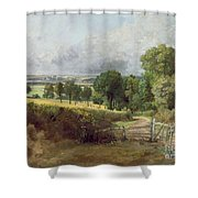 The Entrance To Fen Lane By Constable John Shower Curtain by John Constable