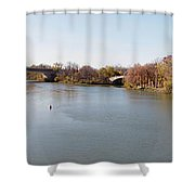 The Erie Canal Crossing The Genesee River Shower Curtain