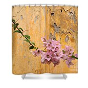 The Escaping Bougainvillea Shower Curtain